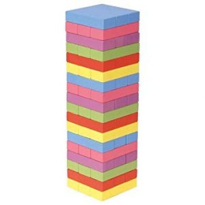 Wooden Tower Deluxe Stacking Game by Matty's Toy Stop — the best set with an exclusive bag for keeping all pieces