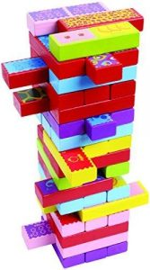 Timber Tower Wood Block Stacking Game by CoolToys (52 pieces) — the most versatile playset!