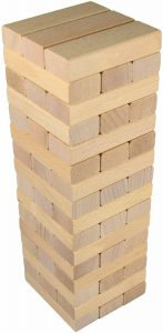 Timber Tower Wood Block Stacking Game by CoolToys (48 pieces) — the top-notch beech wood set