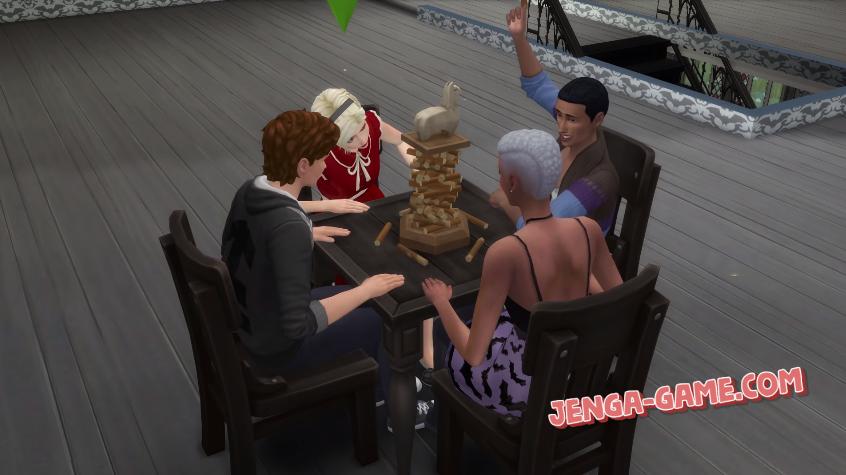 Jenga in Sims 4