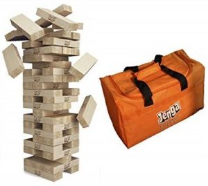 Jenga Oversized Set with a Bag: The Best Outdoor Game for Kids
