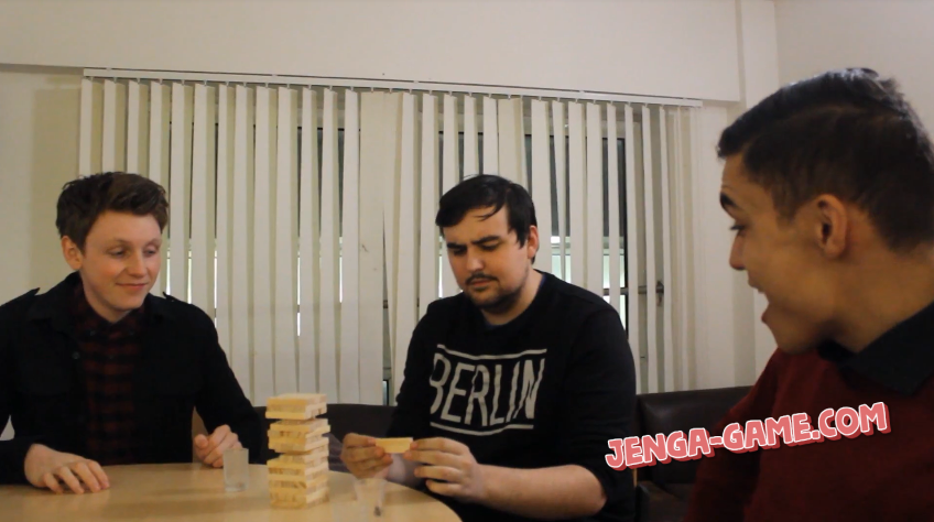 Drinking Jenga Game at Office