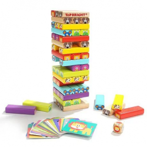 TOP BRIGHT Colored Wooden Blocks
