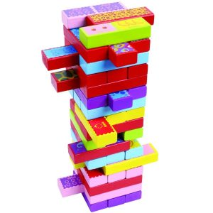 Timber Tower Wood Block-Stacking Game by CoolToys