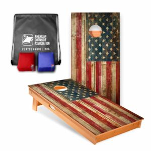 American Cornhole Association Official Cornhole Boards & Bags Set American Flag Design