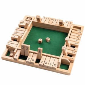 ROPODA Shut The Box Dice Game Wooden